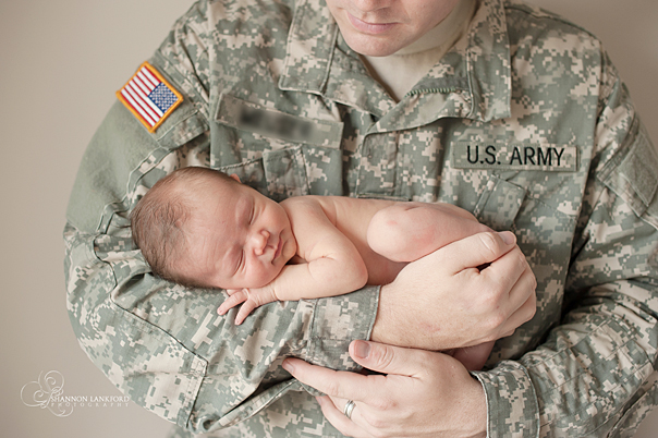 Military army newborn photo